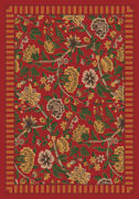 Milliken Red Transitional Casual Bulbs Petals Area Rug Floral Vachell Indian Red