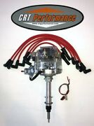 Chevy Inline 6 Straight 6 194-230-250-292 Hei Distributor Clear + Red Plug Wires