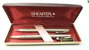 Vintage Sterling Silver Executive Sheaffer Pen And Pencil Writing Set Womans New