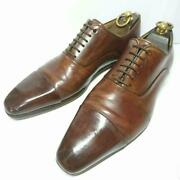 With Shoehorn Magnani Straight Tip 25.0cm Business Shoes Men 7us