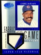 Andre Dawson 2001 Leaf Certified Materials Fabric Of The Game Logo Patch 21/21