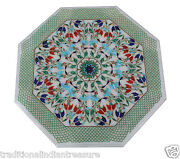 Marble Coffee Bedroom Table Top Malachite Multi Inlay Design Christmas Home Gift