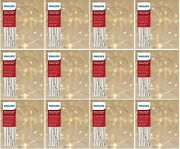 12x Philips 30ct Christmas Battery Op Led String Fairy Dewdrop Lights Warm White