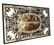 Marble Side Dining Table Top Inlaid Collectible Pietradura Cafeteria Decor M335