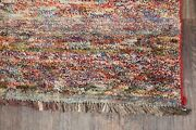 Color-full Striped Thick Plush Gabbeh Wool Rug Tribal Kitchen Hand-made Wool 4x5
