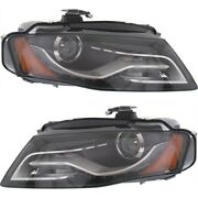 Hid Headlight Set For 2009-2010 Audi A4 Quattro A4 Driver And Passenger Side