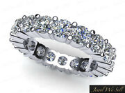 Ladies Classic Shared Prong Diamond Eternity Band Ring 3ctw Solid 10k Gold