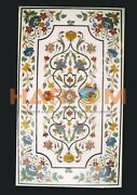 4and039x2and039 White Marble Dining Table Top Collectible Inlay Interior Furniture W390