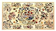 Marble Top Dining Room Furniture Table Birds With Floral Inlaid Design Gift Arts