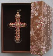 Jay Strongwater Jeweled Cross Ornament Elements New In Box