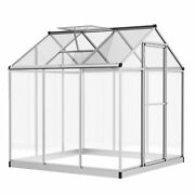 8' L X 6' W Stable Outdoor Walk-in Cold Frame Garden Greenhouse Planter