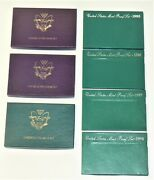 Coins-us Mint Uncirculated Sets 1992-1994 And Proof Sets 1995-1998 W/state Quarter