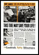 1934 Goodrich Safety Silvertown Golden Ply Tires May Save Your Life Print Ad
