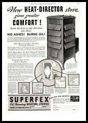 1934 Superfex Oil Burning Heating Stoves Pefection Stove Cleveland Ohio Print Ad