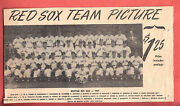 1949 Red Sox Team Issue Glossy 8 X 10 Team Photo Along With Photo Add