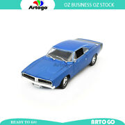 Gift Idea 1969 Dodge Charger R/t - Blue Scale 118 Model Car Diecast Toy