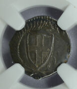 Great Britain 1d Penny 1649-1660nd Au55 Ngc Silver Km387 Commonwealth
