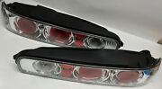 Cool R And L Set Of Chrome 2 Door Acura Integra 1994-2001 Replacement Tail Lights