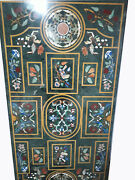 54 X 32 Green Marble Center / Dining Table Top Inlay Home Dining Decor