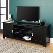 We Furniture Traditional Wood Stand With Storage Cabinets For Tv's Up To 78 ...