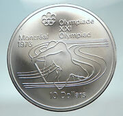 1975 Canada Queen Elizabeth Ii Olympics Montreal Rings Silver 10 Coin I81959