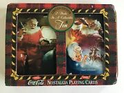 Coca Cola 1993 - 2 Decks Vintage Playing Card And Tin New Unopened Cards And Tin