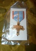 Vermont National Guard Full Size Distinguished Service Medal - New In Package