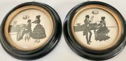 Vintage Pair Of Silhouette Picture Musical Moments By Canda Richards