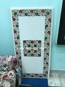 5and039x3and039 Rectangle Marble Dining Table Top Multi Intricate Inlay Kitchen Decor E150