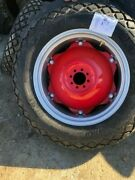 - Massy Ferguson 50 - 2- 12.4x28 12.4-28 8ply R1 Tires W/wheel And Red Center