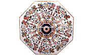 Octagon White Marble Dining Center Table Tops Inlay Design Furniture Home Decor