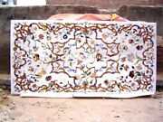 Marble Excellent Natural Quality Inlaid Dining Home Decorative Tops Table H4029