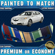 New Painted To Match Front Bumper Replacement For 2012-2014 Acura Tl Sedan 12-14