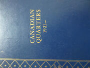 Set Of Canada Twenty-five Cents Coin 1921-1973 - Quarters In Whitman Book Sq9