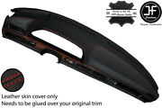Red Stitch Dash Dashboard Leather Cover Fits Mercedes S Class Se W126 79-91