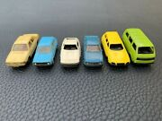 Vtg Collection Miniature Plastic Toy Cars Germany Some Wiking And Herpa Models X 6