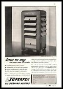 1937 Superfex Oil Burning Heaters Perfection Stove Company Cleveland Oh Print Ad