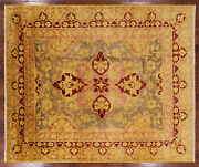 Handmade William Morris Wool Rug 8and039 1 X 9and039 8 - P5182