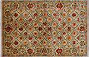 6and039 1 X 9and039 1 Handmade William Morris Area Rug - P5393