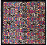8and039 Square Hand Knotted William Morris Rug - P7029