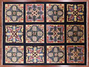 8and039 10 X 12and039 0 William Morris Stained Glass Design Hand Knotted Rug - Q1904