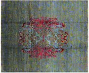 7' 11 X 9' 8 William Morris Hand Knotted Rug - P6924