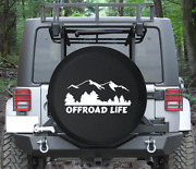 Spare Tire Cover Offroad Life Mountains Tree Wildlife Scenery Auto Accessories