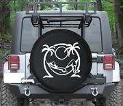 Spare Tire Cover Lazy Daze Sleeping In Island Hammock Sunset Auto Accessories