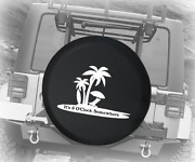 Spare Tire Cover 5 Oand039clock Somewhere Island Vacation Drinking Auto Accessories