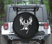 Spare Tire Cover Deer W Antlers Looking Forward Hunting Auto Accessories