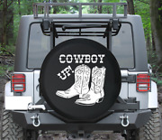 Spare Tire Cover Cowboy Up Western Boots Riding Heritage Auto Accessories