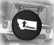 Spare Tire Cover Montana Standing Bear Home State Edition Auto Accessories