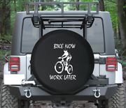 Spare Tire Cover Bike Now Work Later Mountain Road Auto Accessories