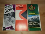 Mexico And Canada Railroad Timetable Lot Of 3/national Railways Mexico/canadian